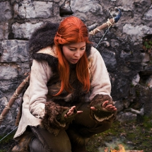 Norway Cosplay am Feuer
