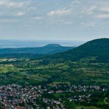 Panorama Blick über das Albvorland
