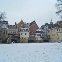 Foto der Innerebrücke im Schnee